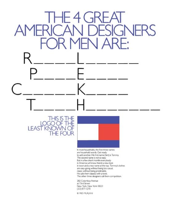 tommy hilfiger 4 great designers